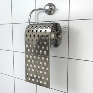 Hemorrhoids concept.Toilet paper as grater. 3d